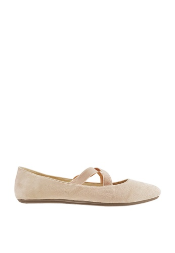 CO BLANC pink and beige CO BLANC Ballerinas with Criss-cross Strap EBF6CSH15A7FC6GS_1