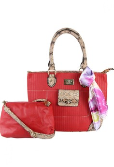 Lady Tote Bag with Sling bag and Scarf