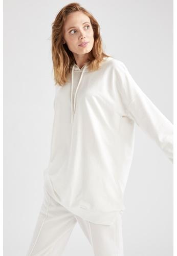 DeFacto beige Long Sleeve Hoodie Tunic 310EDAA1788694GS_1