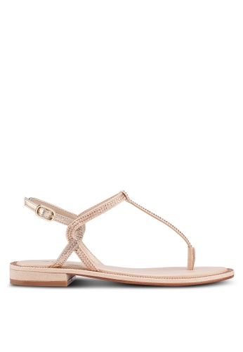 ALDO 褐色 鑽飾平底涼鞋 75138SH61713F6GS_1