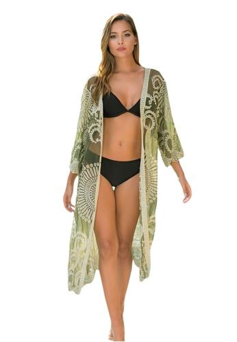 LYCKA green LTH4166-European Style Beach Robe-Green 95082US430FB61GS_1