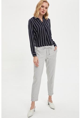 DeFacto grey Woman Woven Bottom Trousers 3B5E7AADB42DE8GS_1
