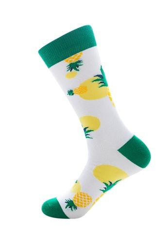 Kings Collection white Pineapple Pattern Cozy Socks (EU39-EU45) 21A22AA0ADA434GS_1