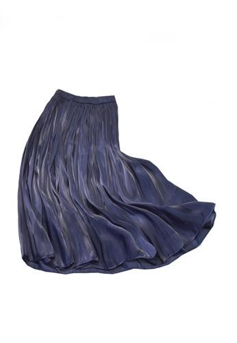 Twenty Eight Shoes navy VANSA Pearly Yarn Pleated Skirt VCW-Sk18588 275D0AAC5CFFB0GS_1