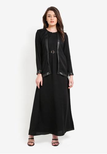 JubahSouq black Luvina Black Label X Colour Jubah JU399AA0RNS0MY_1