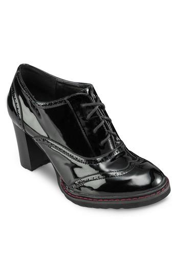 漆皮雕花高跟靴zalora 心得, 女鞋, 鞋