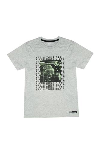 FOX Kids & Baby grey Short Sleeve Tee E6F30KAB367017GS_1