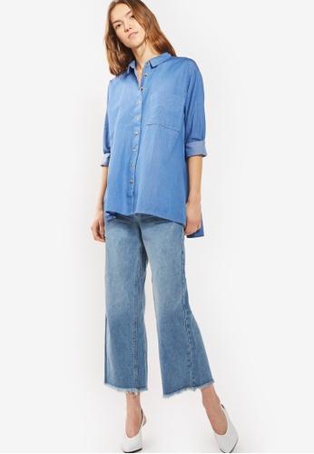 89da1160ca43 Shop TOPSHOP Moto Mid Cropped Wide Leg Jeans Online on ZALORA ...