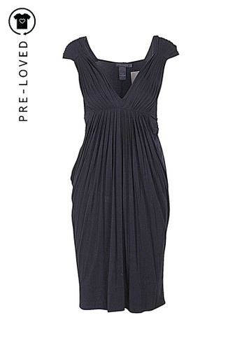 Donna Karan black Pre-Loved donna karan Collection Black Pleated Dress A5D16AA3862BA9GS_1