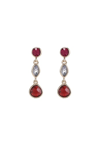 niko and ... red Tiered Stone Earrings FAE40ACABA4905GS_1