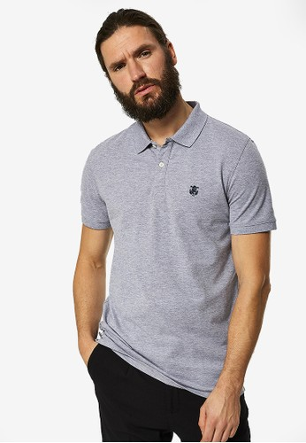 Selected Homme grey Embroidery Polo Shirt 2536DAA0085272GS_1