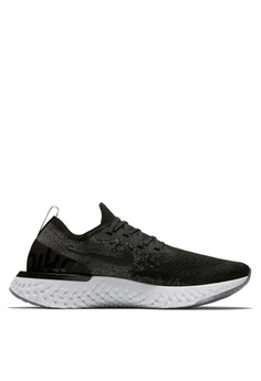 a24e0e0d230 Nike black Women s Nike Epic React Flyknit Running Shoes A0886SH63981EBGS 1