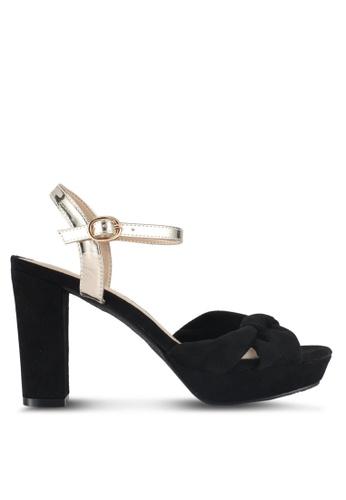 DMK black Knotted Platform Sandal Heels C6EA9SH75A8004GS_1