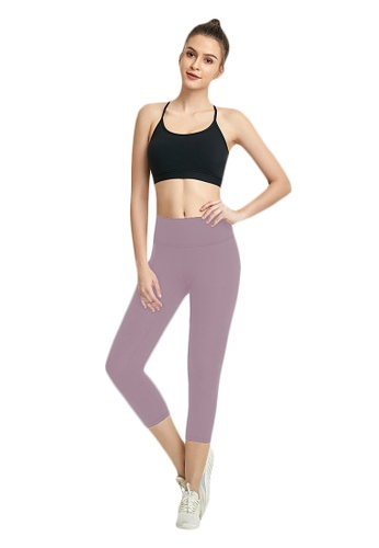 B-Code pink ZWG7013Lady Quick Drying Running Fitness Yoga Sports Leggings -Pink FBDB9AA454F22BGS_1