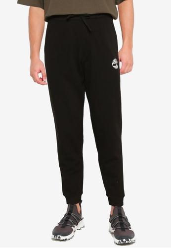 Timberland black Logo Print Sweatpants 27F60AA0765A88GS_1