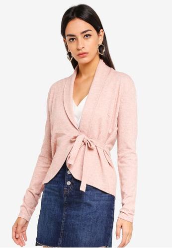 Vero Moda pink Karis Wrap Cardigan ABB1EAA74A2DF3GS_1