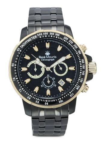 René Mouris black and multi Traveller - 49mm Quartz Chrono Watch FC9BEAC5BD5377GS_1