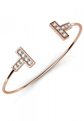 Her Jewellery gold Her Jewellery Hermies Bangle (Rose Gold) with Premium Grade Crystals from Austria 5752FACE716AA7GS_1