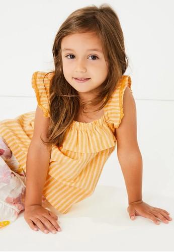 MARKS & SPENCER yellow Pure Cotton Striped Sleeveless Top 188D8KAF8A22D0GS_1