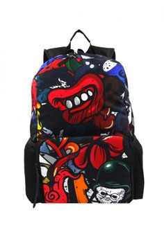 Unisex Printed Casual Daypacks Bag-Punch (Multicolor)