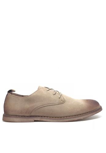 Twenty Eight Shoes 米褐色 復古擦色猄皮鞋 MC621 A3ED8SH6D5A7AFGS_1