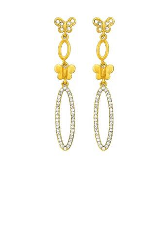 Glamorousky silver Elegant Butterfly Earrings with Silver Austrian Element Crystal 0D5EBAC94C4E43GS_1