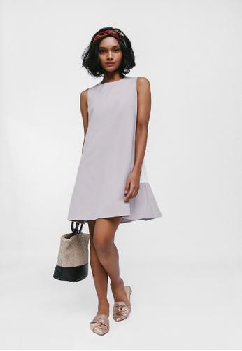 Love, Bonito purple Corynne Colourblock Back Ruffle Hem Dress 8B887AA77DD0B3GS_1