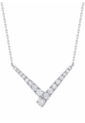 Smiling Rocks 白色 10K白金0.51克拉實驗室培植鑽石經典系列項鍊 5E608ACBA5FAE0GS_1