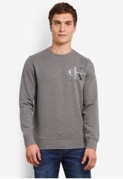 Calvin Klein grey Hicon 2 Crew Neck Sweatshirt - Calvin Klein Jeans CA221AA0S9CNMY_1