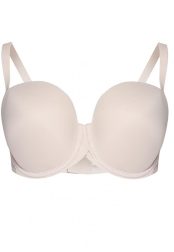 MARKS AND SPENCER PLUNGE PUSH UP PADDED UNDERWIRE PRINT BRA