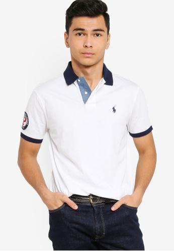 Polo Ralph Lauren white Short Sleeve Slim Fit Polo Shirt - Basic Jersey 7155DAA99671BCGS_1