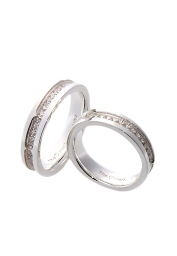 The LoveMark silver Charmed Life Couple Ring with Artificial Diamonds lr0027 TH516AC34VGBPH_1