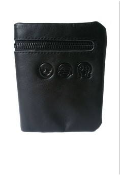 Mini Leather Wallet, Emoji Collection