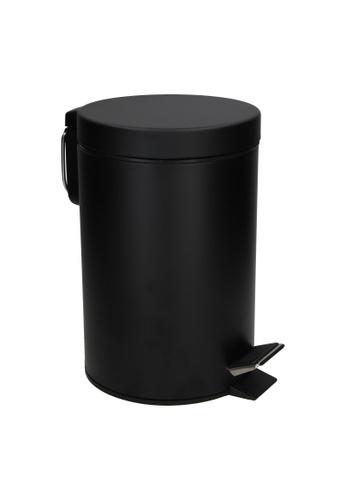 JVD JVD Lifestyle Pedal Bin, Matt Black Stainless Steel with Soft-Closing lid, with inner plastic liner, 12 litres 4E747HL3C21410GS_1