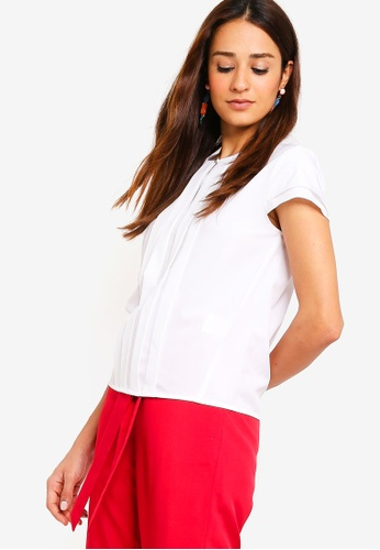 ZALORA white Pleated Top 3A584AAAB10867GS_1