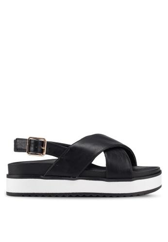 Rubi 銀色 Grace Xover Flatform Sandals DC837SHDC3D3E4GS_1