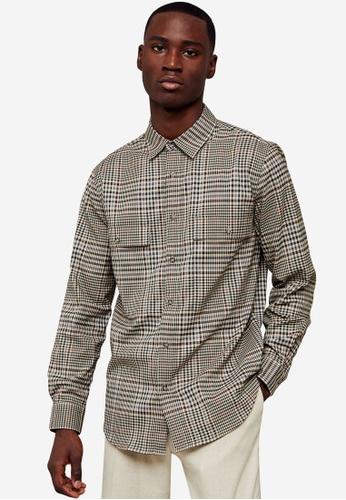 Topman multi Check Shirt 1464CAAC942A51GS_1