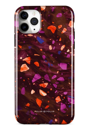 Polar Polar red Paprika Terrazzo Gem Dual-Layer Tough Case Glossy For iPhone 11 Pro Max D5DB2ACB4205CCGS_1