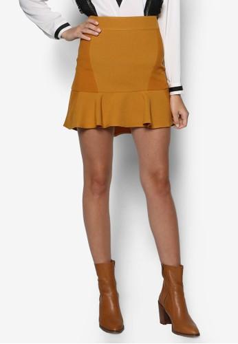 zalora 衣服評價荷葉擺短裙, 服飾, 裙子