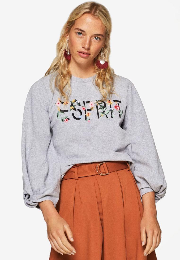 ESPRIT Sweatshirt ESPRIT Long Sleeve Long Grey Sweatshirt Sleeve gRCq7