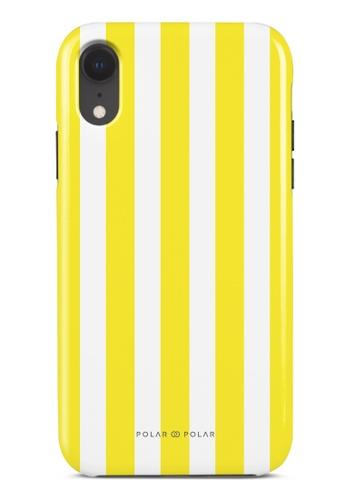 Polar Polar yellow Yellow Stripe Dual-Layer Tough Case Glossy For iPhone XR FD17BACB1A4A19GS_1