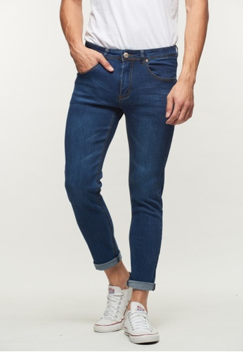 DRUM blue Casual Slim Fit Jeans- Blue 4F192AA2349991GS_1
