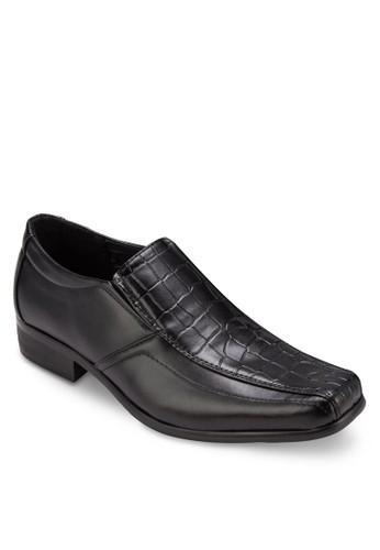 esprit tw暗紋方頭商務正裝皮鞋, 鞋, 鞋