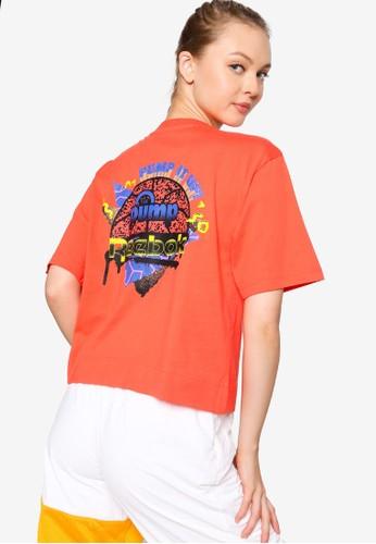 Reebok orange Classics Graphic Cropped Tee EF62BAA33CECCBGS_1