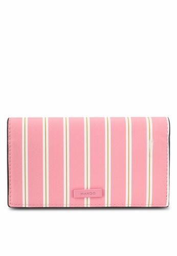 Mango pink Striped Wallet A70D4ACD3F88B3GS_1