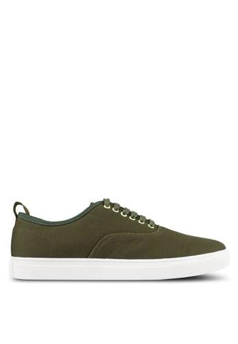 JAXON green Classic Kanvas Sneakers 04E4FSH0FBA4A3GS_1