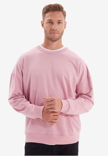Trendyol pink Pink Oversized Sweatshirt 07999AA6AF60BFGS_1