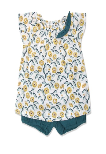Organic mom green Organic Cotton Serena floral resort outfit 47FC7KA61C9E45GS_1