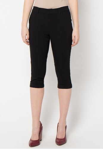 Raspberry black Alina Capri Pants RA572AA53JBMID_1