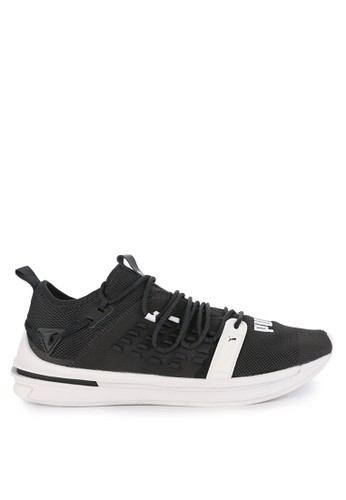 Puma black and multi Ignite Limitless Sr Fusefit Shoes 883ECSHB0656D7GS_1